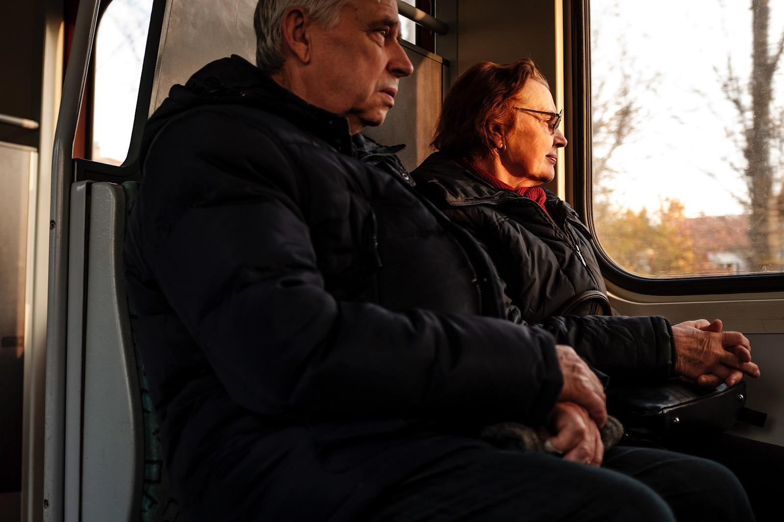 Window light on the train in Berlin
