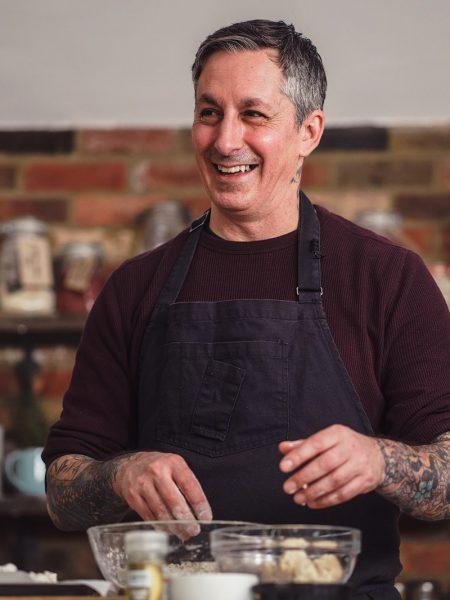 Derek Sarno of Wicked Kitchen Laughing