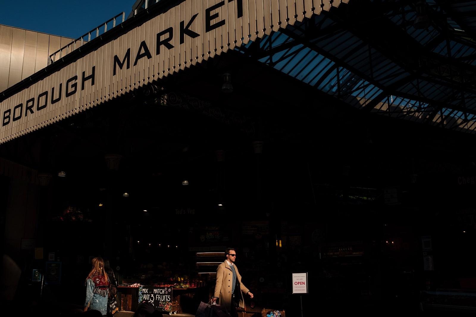 External view of Borough Market in London